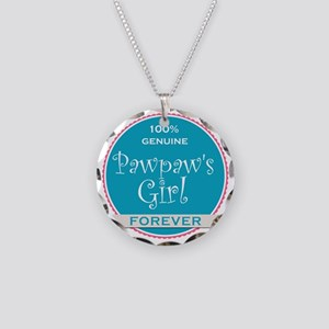 100% Pawpaw's Girl Necklace Circle Charm