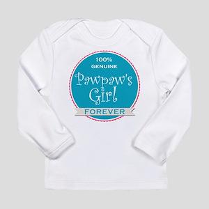 100% Pawpaw's Girl Long Sleeve Infant T-Shirt
