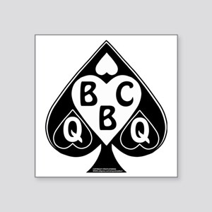"Queen of Spades Loves BBC Square Sticker 3"" x 3"""