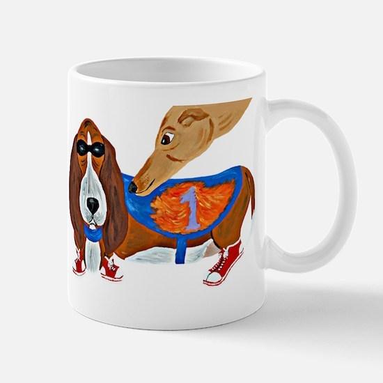 Basset Hound Marathon Racer Mugs