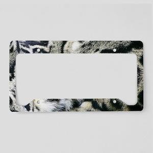 Clouded Leopard License Plate Holder