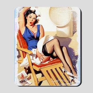 Cruise Girl Vintage Pinup Mousepad