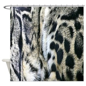 Black And White Leopard Shower Curtains