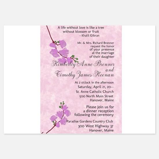 Cherry Blossoms Wedding Invitations Invitations