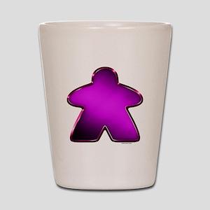 Metallic Meeple - Purple Shot Glass