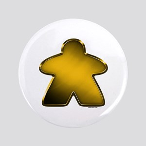 "Metallic Meeple - Gold 3.5"" Button"