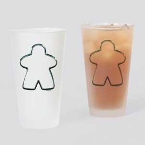 Metallic Meeple Drinking Glass
