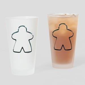 Metallic Meeple Drinking Glass