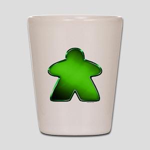 Metallic Meeple - Green Shot Glass