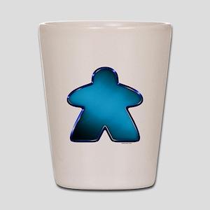 Metallic Meeple - Blue Shot Glass