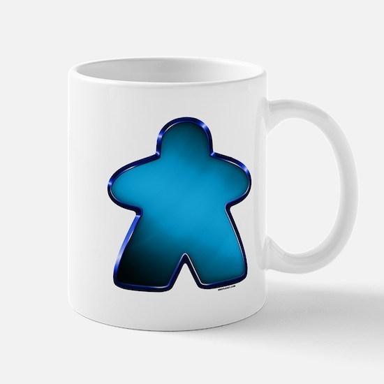 Metallic Meeple - Blue Mugs