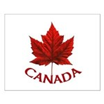 Canada Souvenir Print Small Poster Red Maple Leaf