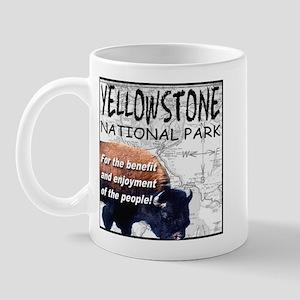 YNP Bison and Map Mug