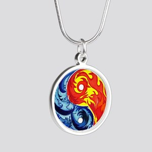 Yin-Yang Fire and Ice Necklaces