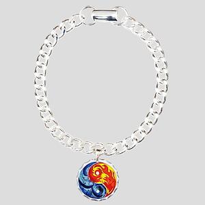 Yin-Yang Fire and Ice Bracelet