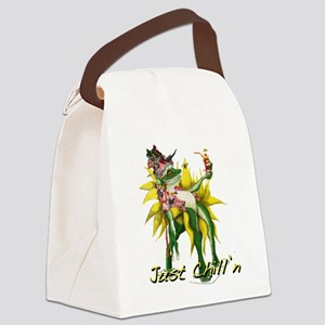 Chilln Frog Design #3 Canvas Lunch Bag