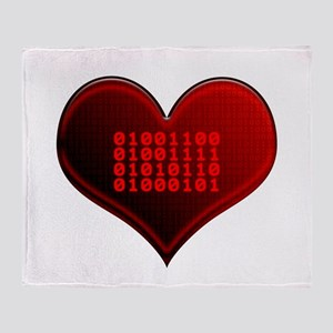 Binary LOVE Throw Blanket