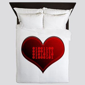 Binary LOVE Queen Duvet