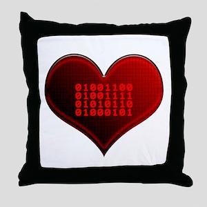 Binary LOVE Throw Pillow