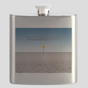 No Open Borders Flask
