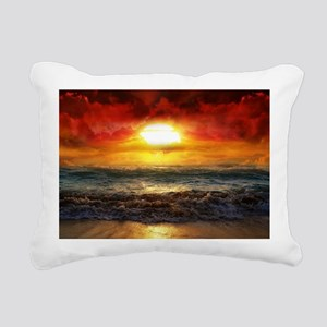 sun down Rectangular Canvas Pillow