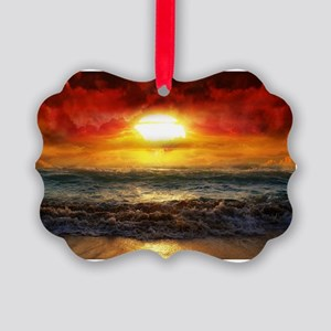 sun down Picture Ornament