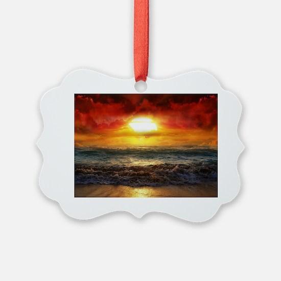 sun down Ornament