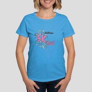 5k Optional Text Women's Dark T-Shirt