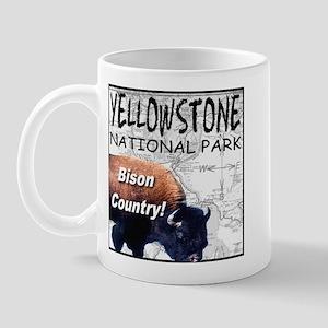 YNP Bison Country Mug