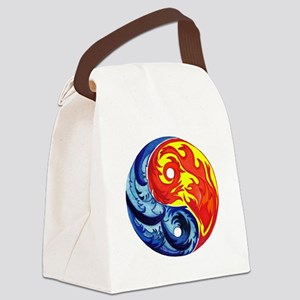 Yin-Yang Fire and Ice Canvas Lunch Bag