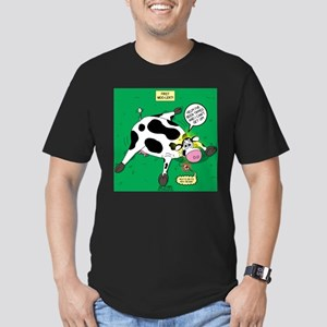 First Moo-lert Men's Fitted T-Shirt (dark)