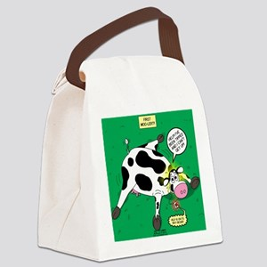 First Moo-lert Canvas Lunch Bag