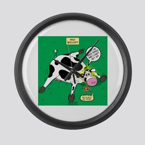 First Moo-lert Large Wall Clock
