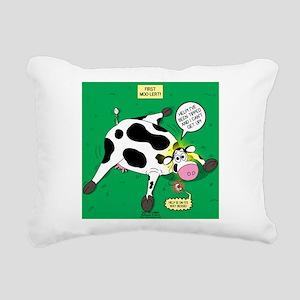 First Moo-lert Rectangular Canvas Pillow