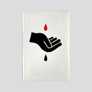 Blood For Oil Rectangle Magnet