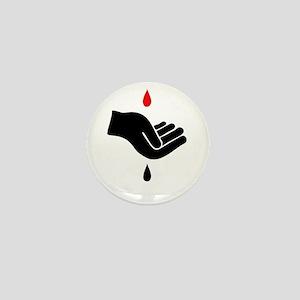 Blood For Oil Mini Button