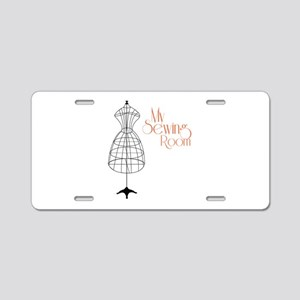 My Sewing Room Aluminum License Plate