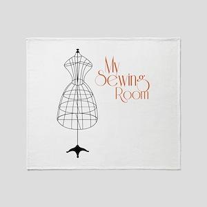 My Sewing Room Throw Blanket