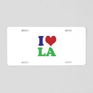 I Heart LA Aluminum License Plate
