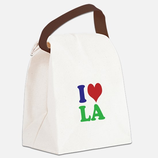 I Heart LA Canvas Lunch Bag
