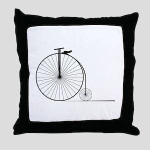 Antique Bike Throw Pillow