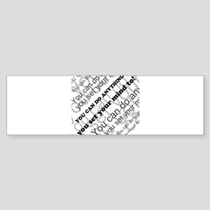 CAN DO Inspirational Text Sticker (Bumper)