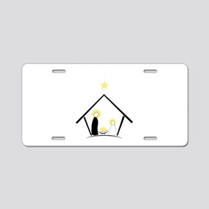 Baby In Manger Aluminum License Plate