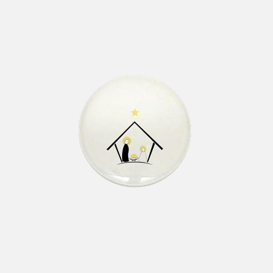 Baby In Manger Mini Button