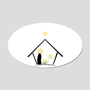 Baby In Manger Wall Decal