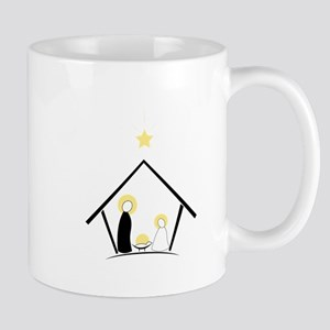 Baby In Manger Mugs