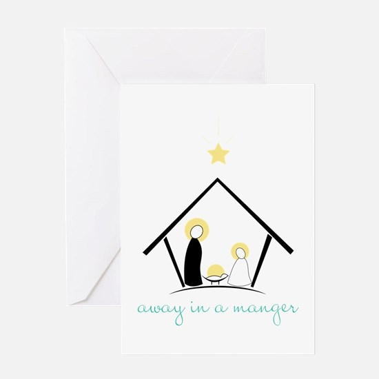 Away In A Manger Greeting Cards