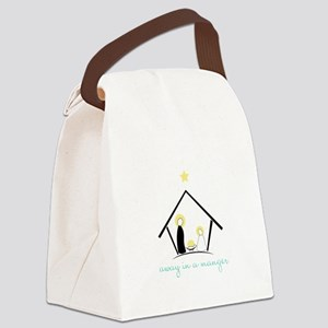 Away In A Manger Canvas Lunch Bag