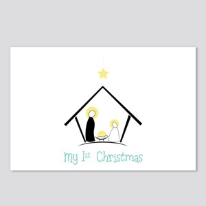 My 1st Christmas Postcards (Package of 8)