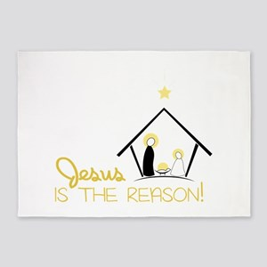 Jesus Is The Reason 5'x7'Area Rug